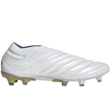 Adidas Copa 19+ FG Soccer Cleats (White/Gold Metallic/Football Blue)