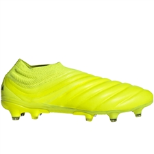 Adidas Copa 19+ FG Soccer Cleats (Solar Yellow/Core Black)