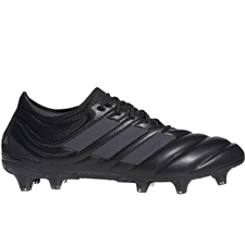 Adidas Copa 19.1 FG Soccer Cleats (Core Black/Silver Metallic)
