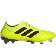 Adidas Copa 19.1 FG Soccer Cleats (Solar Yellow/Core Black)