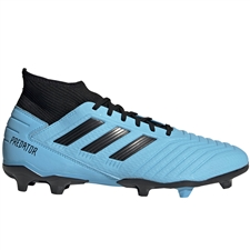 Adidas Predator 19.3 FG Soccer Cleats (Bright Cyan/Core Black/Solar Yellow)