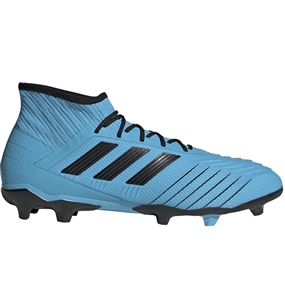 Adidas Predator 19.2 FG Soccer Cleats (Bright Cyan/Core Black/Solar Yellow)