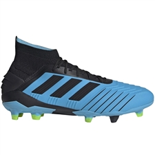 Adidas Predator 19.1 FG Soccer Cleats (Bright Cyan/Core Black/Solar Yellow)