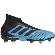 Adidas Predator 19+ FG Soccer Cleats (Bright Cyan/Core Black/Solar Yellow)