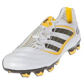 Adidas +Predator Absolion_X TRX Firm Ground Soccer Shoes (White/Brown/Yellow)