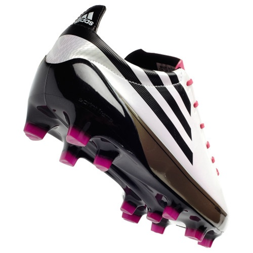 online store 9d033 a7b15 Adidas F50 adiZero TRX Firm Ground Soccer Cleats (White Black Pink)