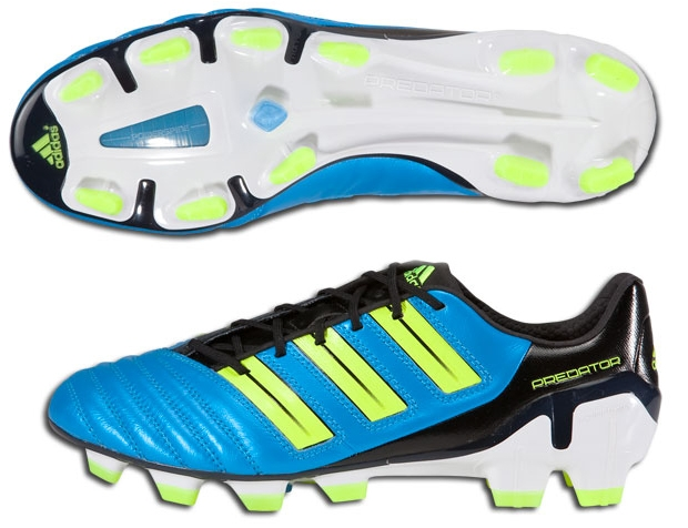picked up sneakers outlet boutique Adidas adiPower Predator TRX FG Soccer Cleats (Sharp Blue  Metallic/Electricity/Black)