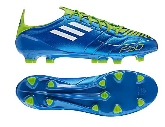 512948bb0 Adidas F50 adizero (Leather) TRX FG Soccer Cleats (Anodized Blue White