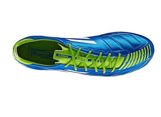 5f16a8e61 Adidas F50 adizero (Leather) TRX FG Soccer Cleats (Anodized Blue White Slime )