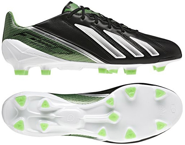 Adidas Youth F30 adizero TRX FG Soccer Cleats (Black/Running White/Green  Zest