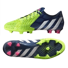 Adidas Predator Instinct FG Soccer Cleats (Rich Blue/White/Solar Green)