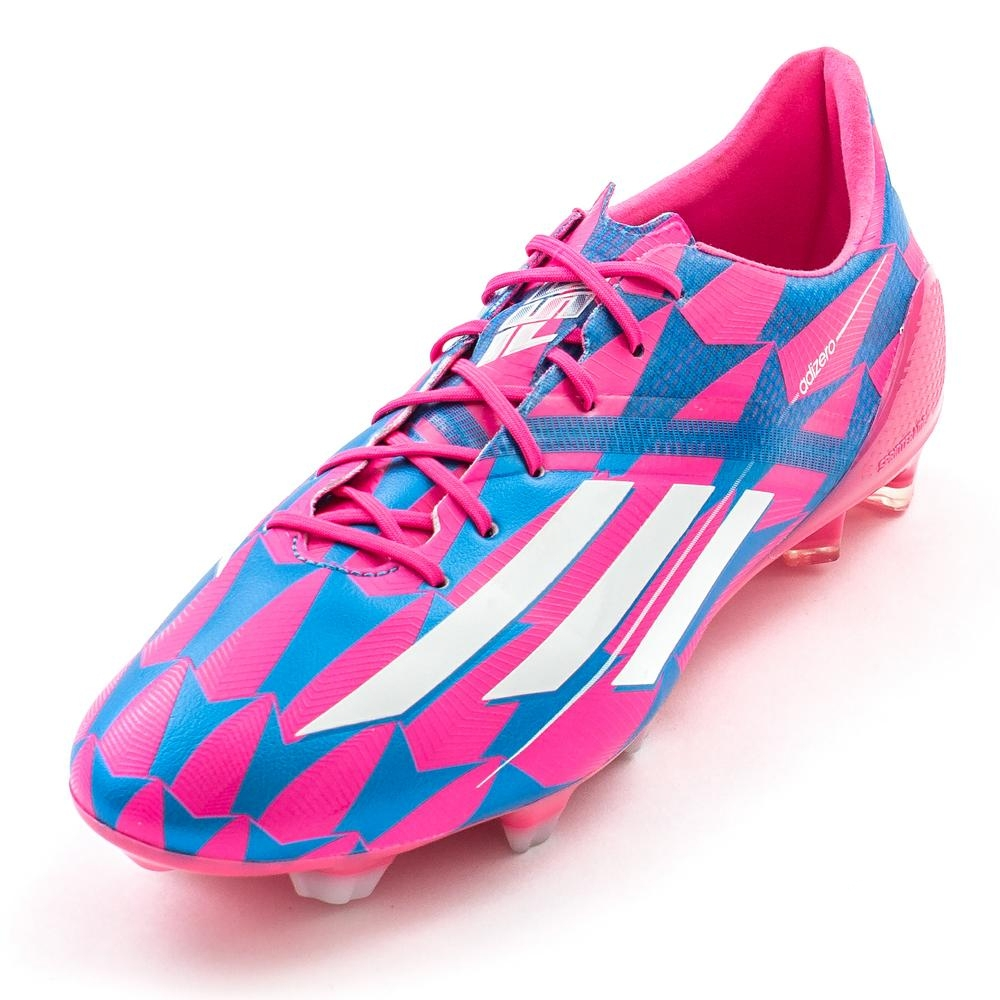 41b1a858f1d Adidas F50 adizero (Synthetic) TRX FG Soccer Cleats (Solar Pink Core White Solar  Blue)