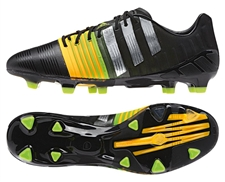 Adidas Nitrocharge 1.0 TRX FG Soccer Cleats (Core Black/Silver Metallic/Solar Gold)