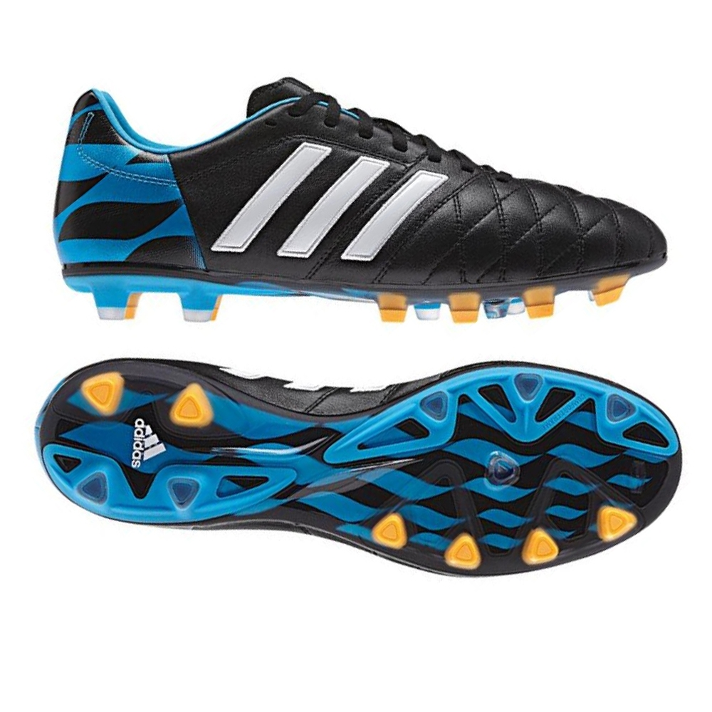 save off 47b03 6d447 Adidas adiPure 11Pro TRX FG Soccer Cleats (Black White Blue)