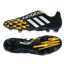 Adidas Soccer Cleats | FREE SHIPPING | M18429 | Adidas Nitrocharge 1.0 TRX FG Soccer Cleats (Core Black/Core White/Gold Metallic)