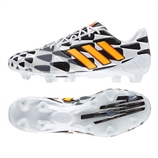 Adidas Soccer Cleats | FREE SHIPPING | M19931 | Adidas Nitrocharge 1.0 Battle Pack  TRX FG Soccer Cleats (Core White/Solar Gold/Black)