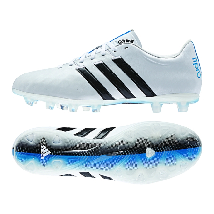 Adidas adiPure 11Pro FG Soccer Cleats White Black Solar Blue