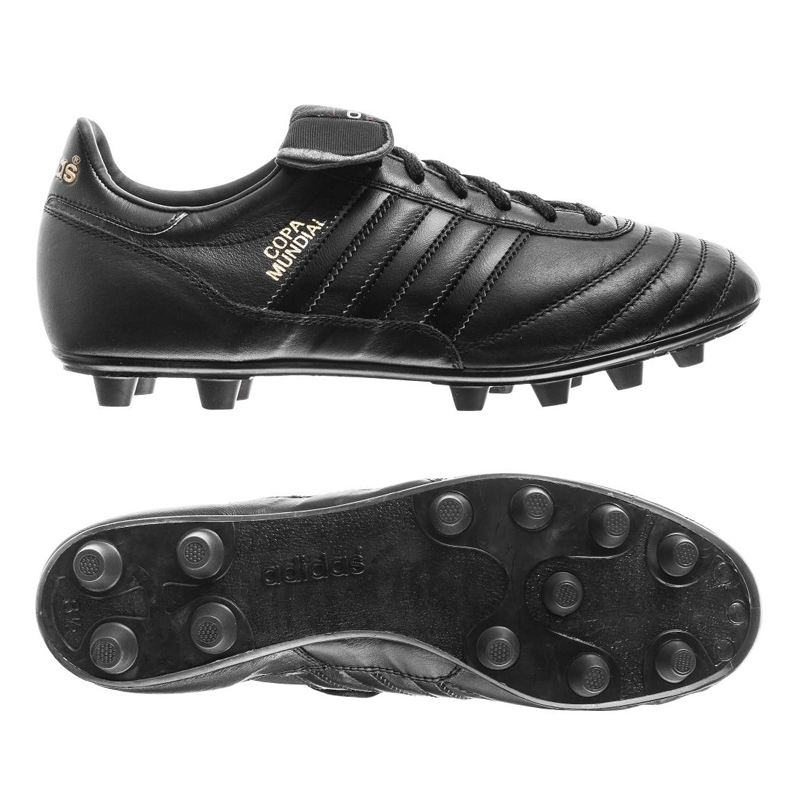 Adidas Copa Mundial FG Soccer Cleat (Black/Black/Metallic Gold)