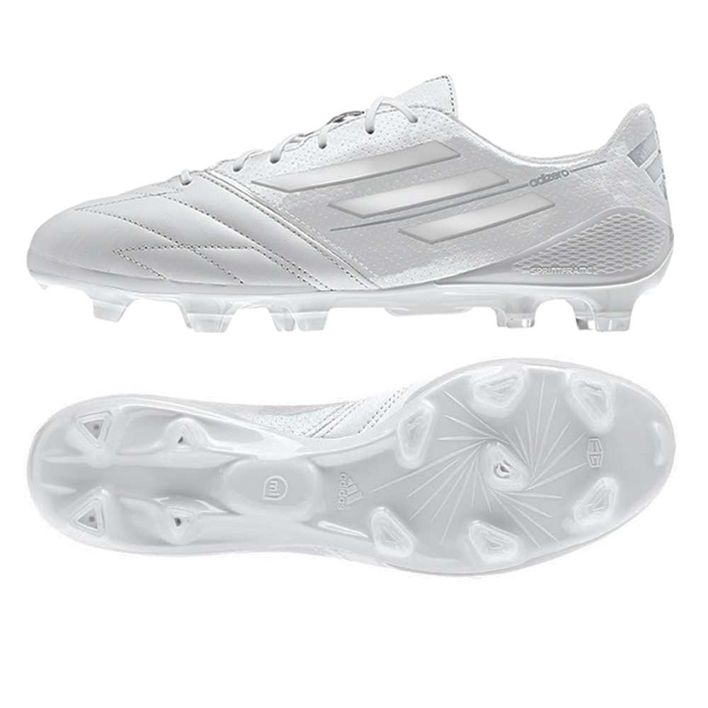 outlet store f200a 10380 Adidas F50 adizero (Leather) TRX FG Soccer Cleats (Running White Running  White