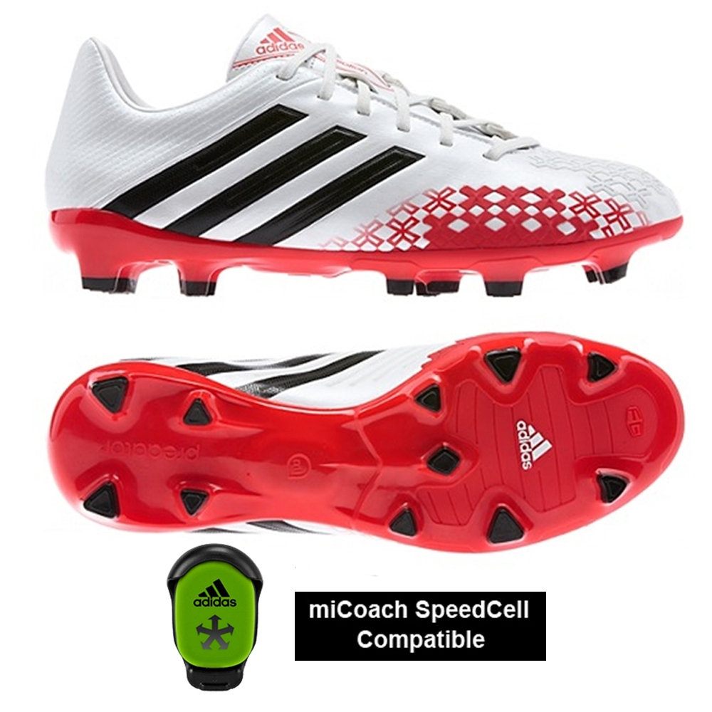 Adidas Predator Absolion LZ TRX FG Soccer Cleats (Running White/Black/Hi-