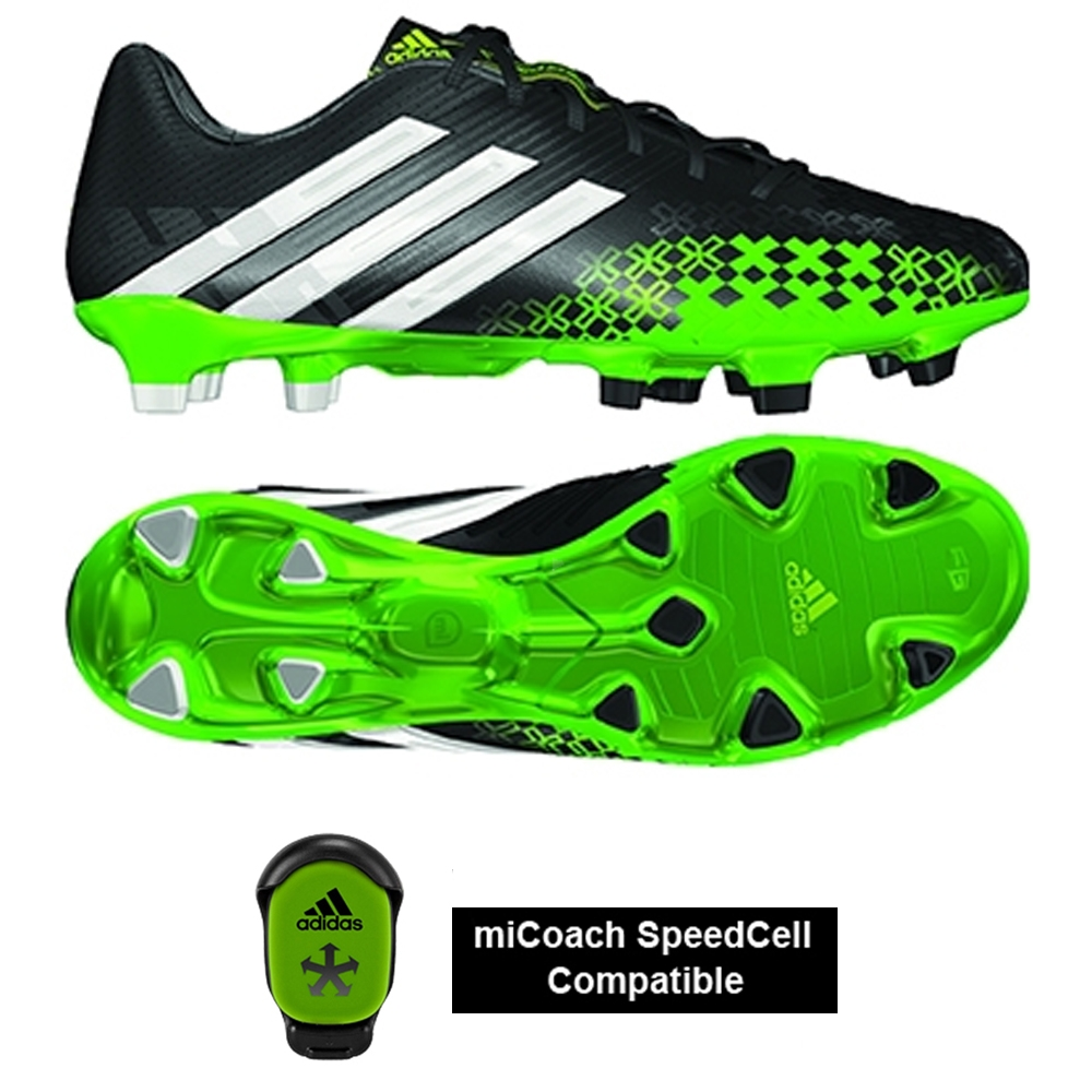 big sale official recognized brands Adidas Predator LZ TRX FG Soccer Cleats (Black/White/Ray Green)