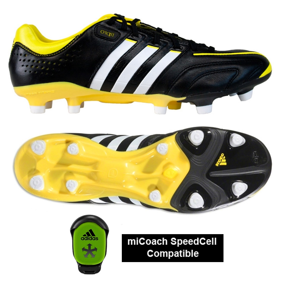 best cheap 9ed9c 88580 Adidas adiPure 11Pro TRX FG Soccer Cleats (Black Running White Vivid Yellow)