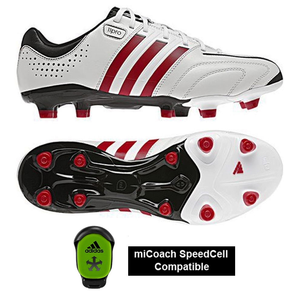 hot sale online 485bf 50740 Adidas Adipure 11 Pro Soccer Cleats (Running White/Black/Vivid Red)