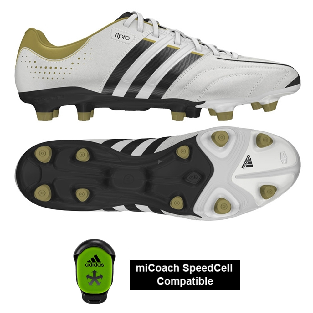 adidas adipure 11pro black gold and white'
