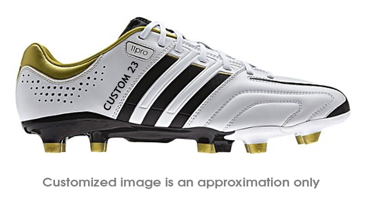 watch 146ec 730b6 Adidas adiPure 11Pro TRX FG Custom Soccer Cleats (Running White Black Metallic  Gold