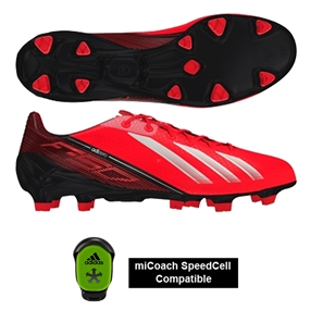 Adidas Soccer Cleats |FREE SHIPPING| Adidas Q33848| Adidas F50 adizero (Synthetic) TRX FG Soccer Cleats (Infrared/Running White/Black) |