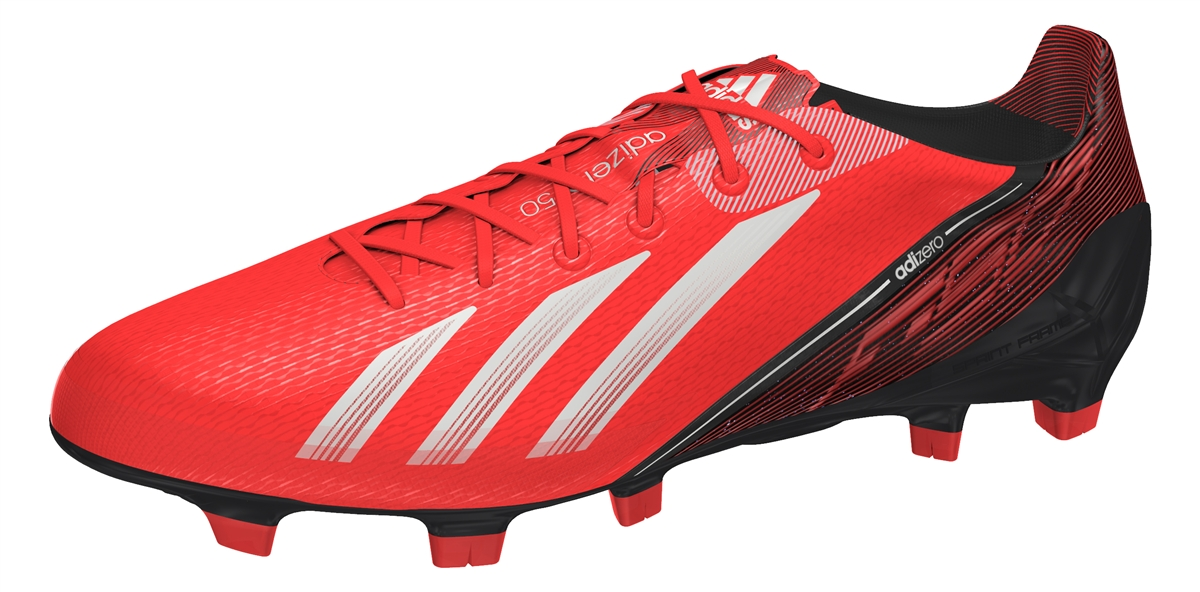 1116374cd Adidas F50 adizero (Synthetic) TRX FG Soccer Cleats (Infrared Running White  Black)