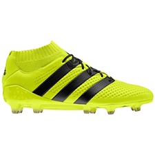 Adidas ACE 16.1 Primeknit FG Soccer Cleats (Solar Yellow/Black/Metallic Silver) | Adidas Soccer Cleats |FREE SHIPPING| Adidas S76470 | SoccerCorner.com
