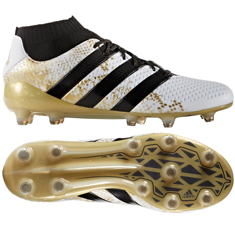new arrival 6494f dcd48 ... shoes gold silver  adidas ace 16.1 primeknit fg soccer cleats (white ...