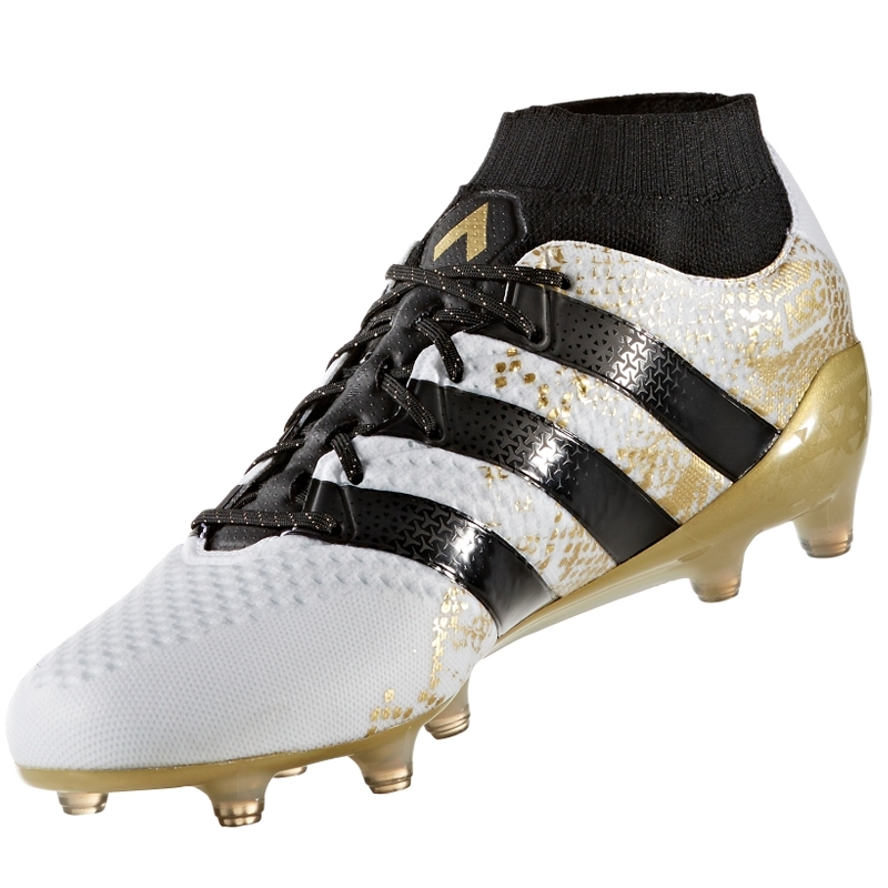 b2dae084e9e Adidas ACE 16.1 Primeknit FG Soccer Cleats (White Black Gold ...