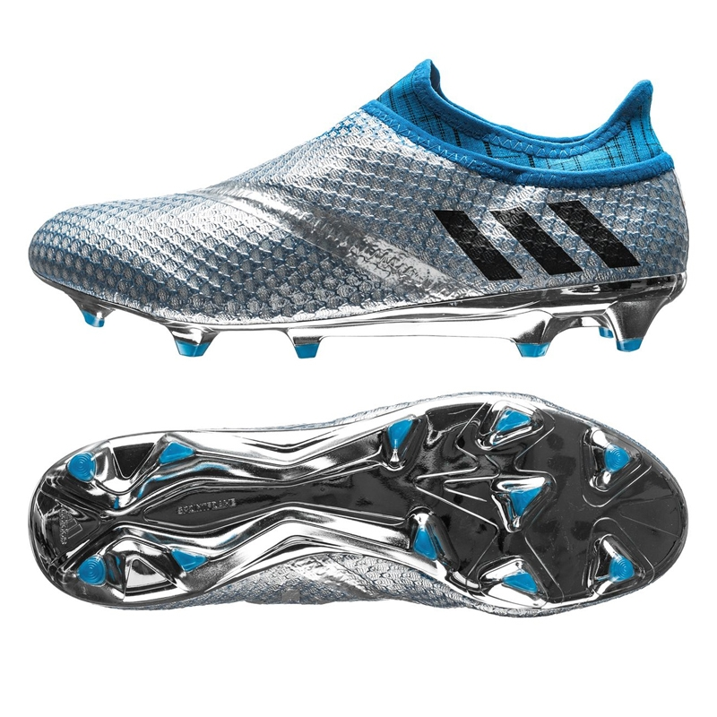 4dce4f3dd5e7 ... uk adidas messi 16 pureagility fg soccer cleats silver metallic black  shock blue 4dbcd 56a84