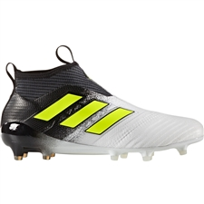 Adidas ACE 17+ Purecontrol FG Soccer Cleats (White/Solar Yellow/Core Black) | S77164