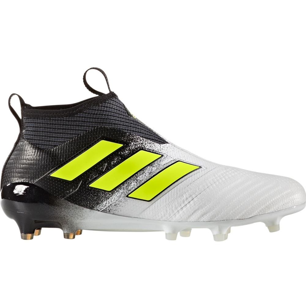 Adidas ACE 17+ Purecontrol FG Soccer Cleats (White/Solar Yellow/Core Black)