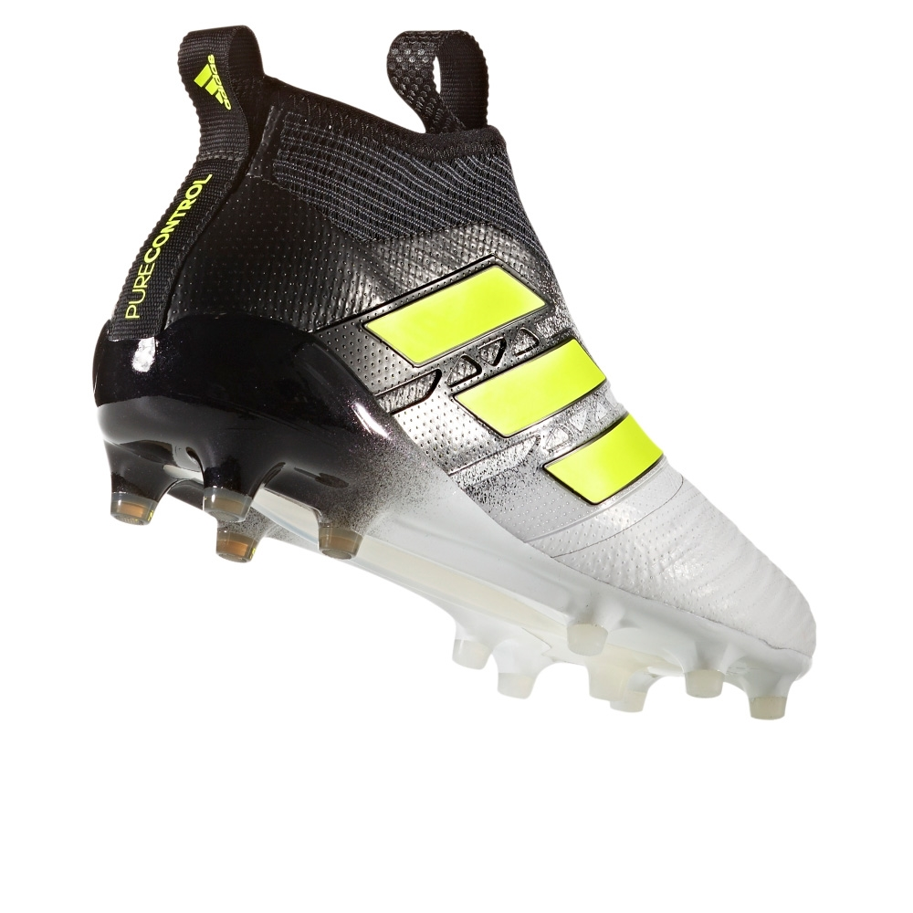 Adidas ACE 17+ Purecontrol FG Soccer Cleats (White Solar Yellow Core Black) 7078f286ec741