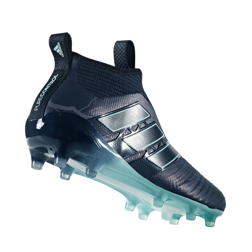 25fff43cd Adidas ACE 17+ Purecontrol FG Soccer Cleats (Legend Ink/Core Black/Energy  Aqua)