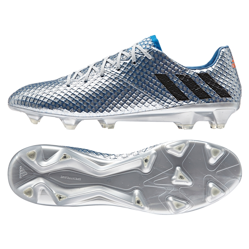 e9ff10d1a26  199.99 Add to cart to see price- Adidas Messi 16.1 FG Soccer Cleats  (Silver Metallic Black Shock Blue)