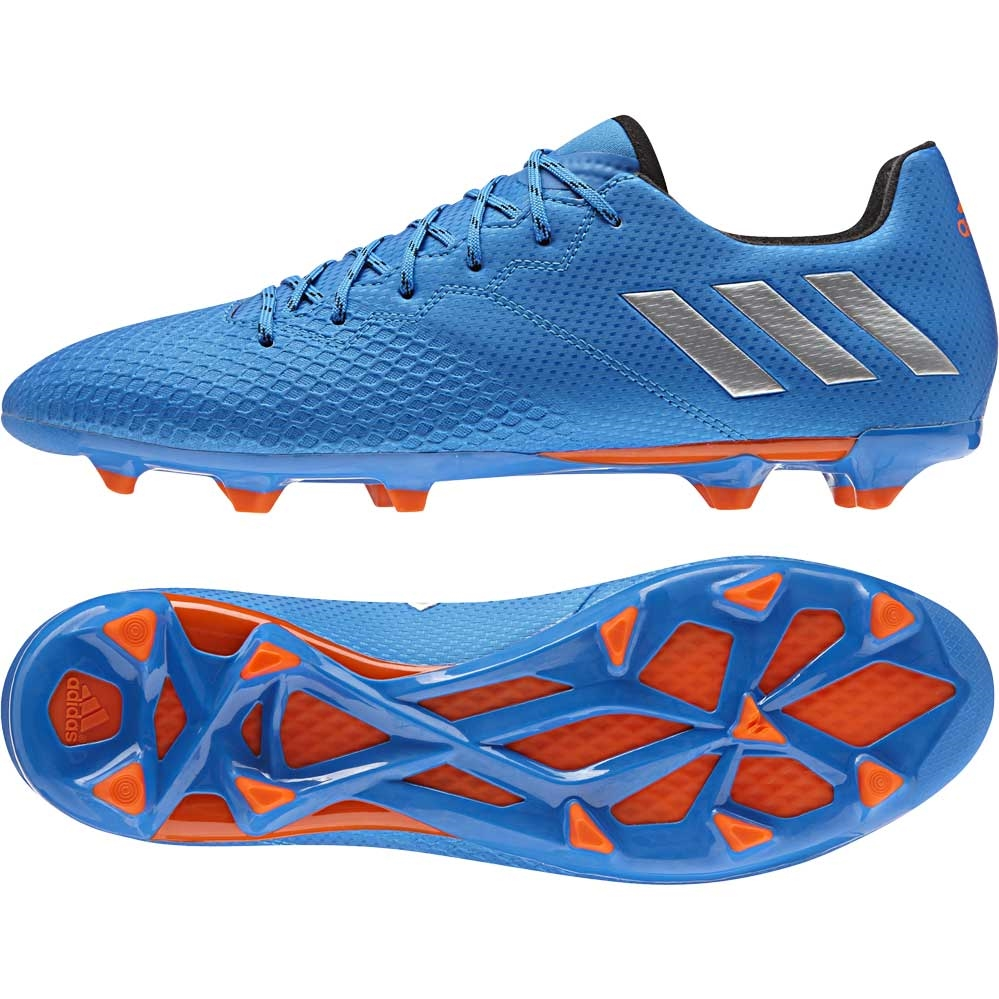 8fd2dd307 Adidas Messi 16.3 FG Soccer Cleats (Shock Blue Metallic Silver Black ...