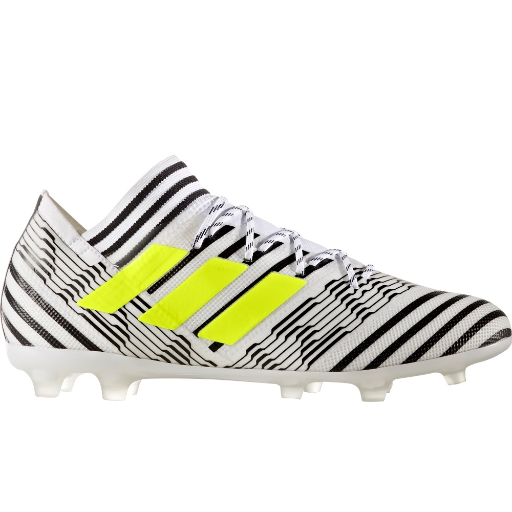 cc06a3f6bfca Adidas Nemeziz 17.2 FG Soccer Cleats (White Solar Yellow Core Black ...