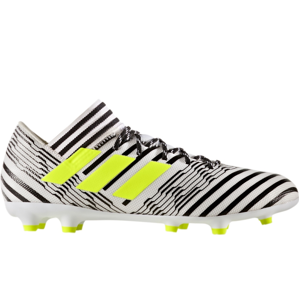 fd3c3a074b4f Adidas Nemeziz 17.3 FG Soccer Cleats (White Solar Yellow Core Black ...