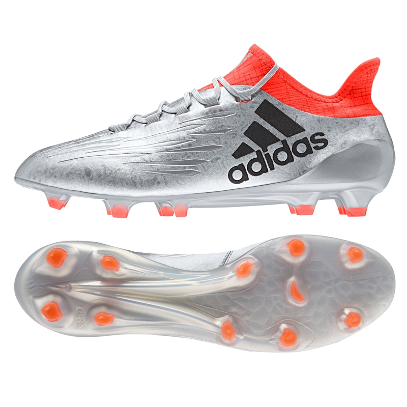 6f8446193b9 X 16.1 FG Soccer Cleats (Silver Metallic Black Solar Red)