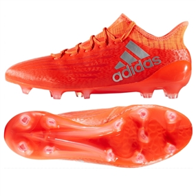 Adidas X 16.1 FG Soccer Cleats (Solar Red/Metallic Silver)