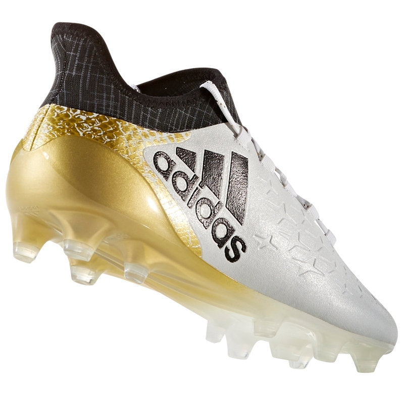 cheap for discount 72743 30f90 Adidas X 16.1 FG Soccer Cleats (White Black Gold ...