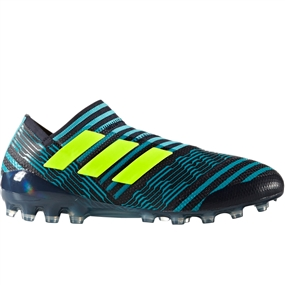 Adidas Nemeziz 17+ 360Agility AG Soccer Cleats (Legend Ink/Solar Yellow/Energy Blue) | S82271