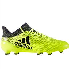 Adidas X 17.1 FG Soccer Cleats (Solar Yellow/Legend Ink/Legend Ink)