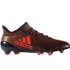 Adidas X 17.1 FG Soccer Cleats (Core Black/Solar Red/Solar Orange)