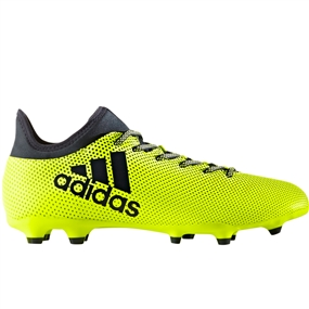Adidas X 17.3 FG Soccer Cleats (Solar Yellow/Legend Ink/Legend Ink)
